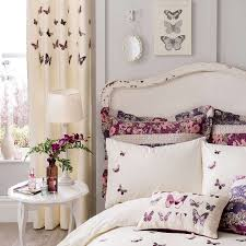 Plum Flora Butterfly Bed Linen Collection