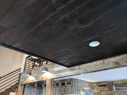100 Wood Cielings What Do You Think About His Charcoal Black Wood Ceiling