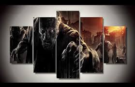 Framed Printed Zombie Games 5ps Picture Painting Wall Art Childrens Room Decor Poster Canvas Free Shipping Up 1077 In Calligraphy From Home