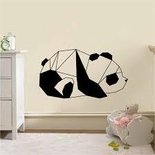 stickers panda chambre bébé stickers animaux autocollant deco et stickers muraux