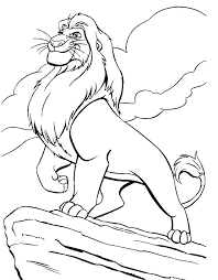 King Mufasa Coloring Pages For Kids Lion
