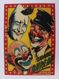 cirque bureau affiche originale poster circus cirque bureau clown blanc auguste