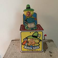 vintage mother goose jack in the box 1971 by imsovintage on etsy