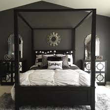 Stunning Bold Black White And Grey Bedroom Design With Simple Accents