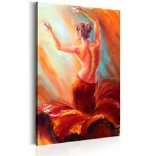 details zu leinwand deko bilder frau tanz wandbild wohnzimmer kunstdruck frauen malerei