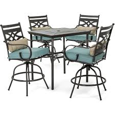 Hanover Montclair 5-Piece High-Dining Patio Set In Ocean Blue With 4 Swivel  Chairs And A 33-In. Counter-Height Dining Table, MCLRDN5PCBR-BLU Phi Villa Height Swivel Bar Stools With Arms Patio Winsome Stacking Chairs Awesome Space Heater Hinreisend Fniture Table Freedom Outdoor 51 High Ding 5 Piece Set Accsories Ashley Homestore Hanover Montclair 5piece Highding In Country Cork With 4 And A 33in Counterheight Tall Ideas Get The Right For Trex Premium Sets Shop At The Store Top 30 Fine And Counter