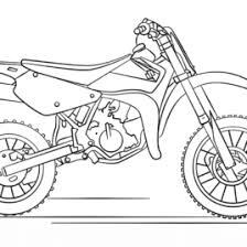 Suzuki Dirt Bike Coloring Page Free Printable Pages