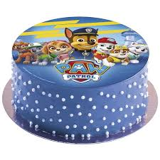 wafer cake disc paw patrol 20cm id 160117