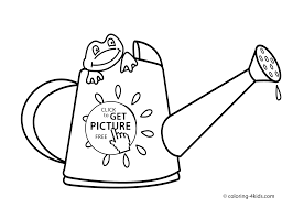 Spring Coloring Pages Frog For Kids Seasons Printable Free
