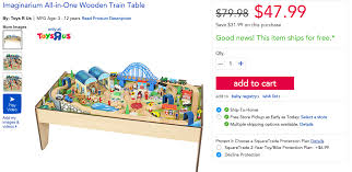 imaginarium 100 piece all in one wooden train table for 48 9to5toys