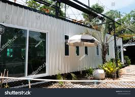 100 Modern Steel Building Homes Metal Made Shipping House Stock Photo Edit