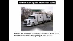 100 Panther Trucking Company Jobs YouTube