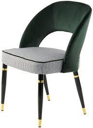 one couture esszimmerstuhl polyester grün gold de