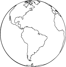 Globe Coloring Pages 1