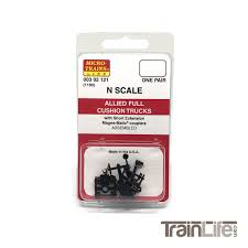 N Scale: Allied Full Cushion Trucks W/ Short Extension Magne-Matic ...