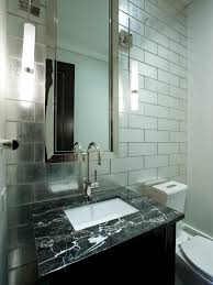 Industrial Bathroom Mirror Lights by Retro Industrial Style Bathroom With Natural Brick Wall Feat White