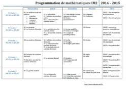 programmations cm2 alex à l école