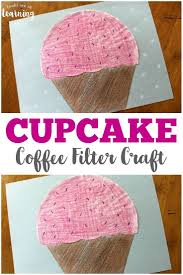 Coffee Filter Cupcake Craft