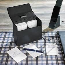 levenger mini nantucket desk metropolitan note card box with 2018 calendar cards levenger