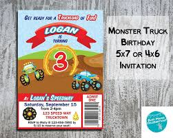 Monster Truck Birthday Party Invitations, Monster Truck Invitations ... Monster Contruck Invitation Invite Pics Of Truck Fresh Birthday Invitations Personalized Invitation Boy By Uprint Etsy Party Ideas At In A Box 50 Off Sale 2nd Svg And Printable Clipart To Make Nice 94 In Design With Frozen Elsa Anna Trucks Food Jam Supplies Monster Truck Birthday Truck Birthday Party Invites Tonys 6th Bday