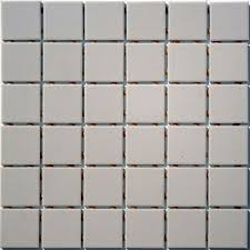 2 inch lyric unglazed porcelain mosaic tile in grey