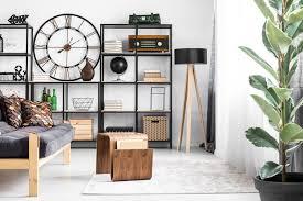 wohnzimmer vintage einrichten tipps wohntrends offenes regal