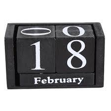 vintage holz kalender planer wohnzimmer desktop home office decor holz block diy monat datum display wiederverwendbare geschenke schwarz blau