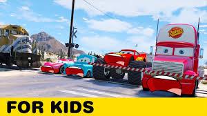 100 Truck Songs Disney Cars Hit By Train Lightning McQueen Mack Tow Mater