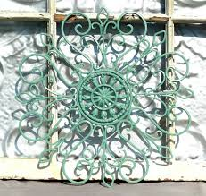 Wall Decor Tuscan Bronze Circles Overlay Metal 89 Within 2018 Wrought Iron