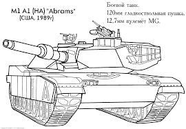 Tank Coloring Pages Free War Military 4