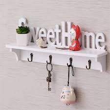 popular wall key holder decorative wall shelves hooks rack buy