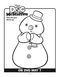 Chilly Doc Mcstuffins Coloring Pages