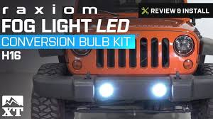jeep wrangler raxiom fog light led conversion bulb kit h16 2010