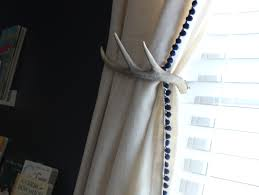 White Antler Curtain Tie Back by Nash U0027s Farm Nursery Farm Themed Nursery Themed Nursery And Deer