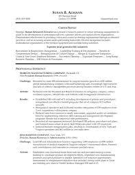Hr Manager Job Resume Sample Senior Human Resources ...