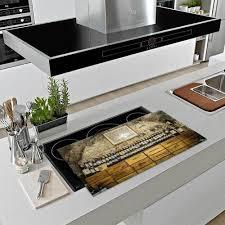 herdabdeckplatte ceran 90x52 wein beige abdeckung glas spritzschutz küche deko