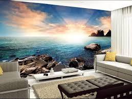 sonne und sand stein schöne seascape 3d tapete für moderne wohnzimmer wand home dekoration