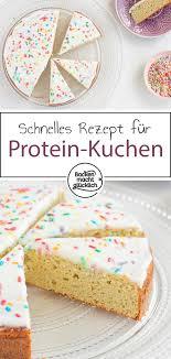 kalorienarmer protein kuchen backen macht glücklich