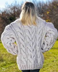 sweaters hand knitted sweater in beige