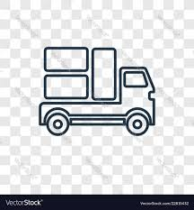 100 Moving Truck Pictures Truck Concept Linear Icon Isolated On Vector Image