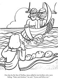 Jesus And Fihermen Coloring Picture
