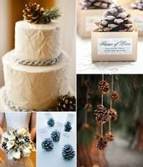 Winter Wedding Ideas With Pinecone Details And Decor