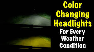 How To Install Boslla LED Headlights - Change Colors For Weather Conditions