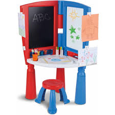 Little Tikes Desk With Lamp And Chair by Little Tikes 2 In 1 Art Desk And Easel Walmart Com