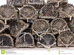 Decorative Wooden Lobster Trap by Red Lobster Toy On Wood Stock Photo Image 58674039