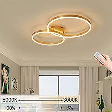 led deckenleuchte dimmbare wohnzimmer le 2 ring design