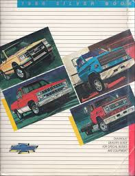1986 Chevrolet Truck Silver Book Special Equipment Dealer Album Inc ...