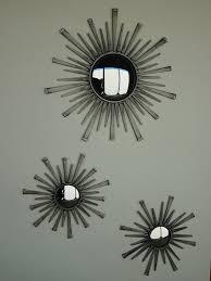 Mirrors Set Of Wall 3 Piece Mirror Kmart Starburst Small Decorative