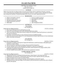 Resume Examples Hospitality
