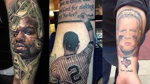 Nothing Shows Ever Lasting Fan Pride Like Getting Inked Mike Tysons Face A Derek Jeter Portrait And More Unreal Tats